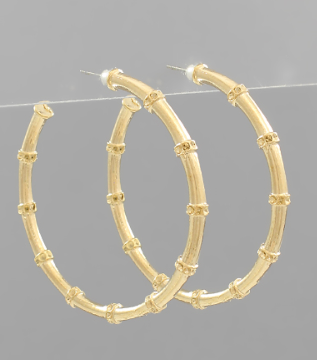 Bette Gold Bamboo Hoops