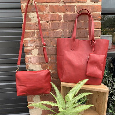 tote, bella Red