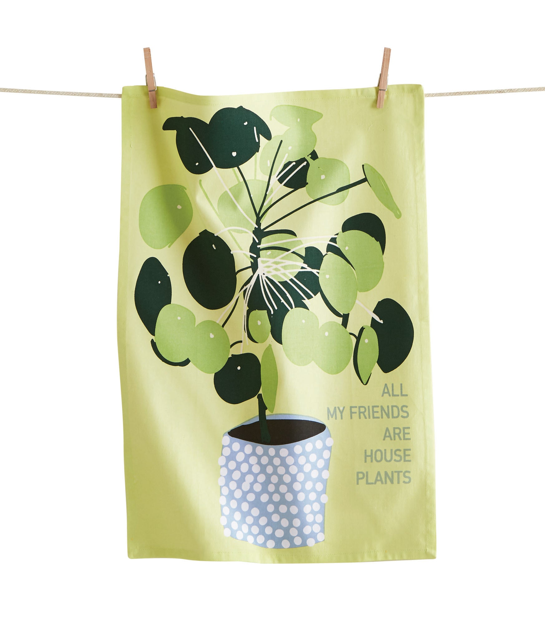 All My Friends Are Houseplants Dishtowel