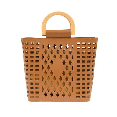 Madison Cut Out Tote - Camel