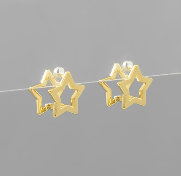 Jolene Star Dipped Huggie Hoops