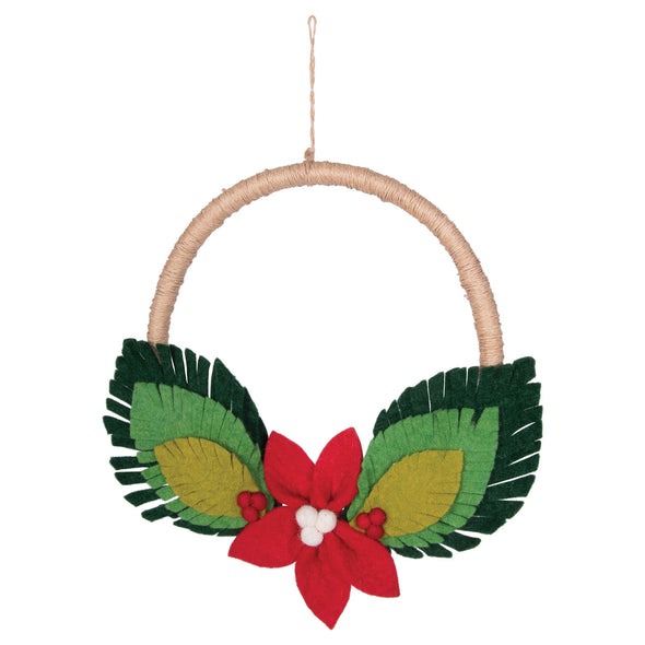 Felt Poinsettia Wreath