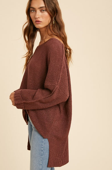 Keely Wide Relaxed Fit Pullover Sweater
