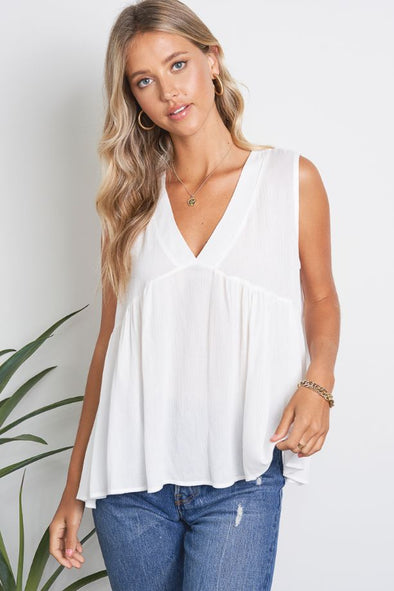 Lucy Loose V-Neck Tank