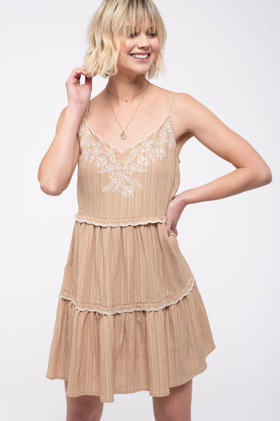 Desert Air Embroidered Dress