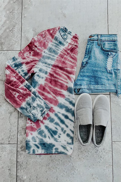 Stayin' Alive Tie Dye Top