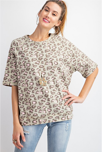 On Safari Leopard Top
