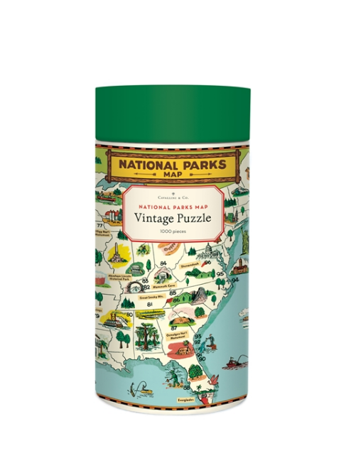 Vintage National Parks Map Puzzle