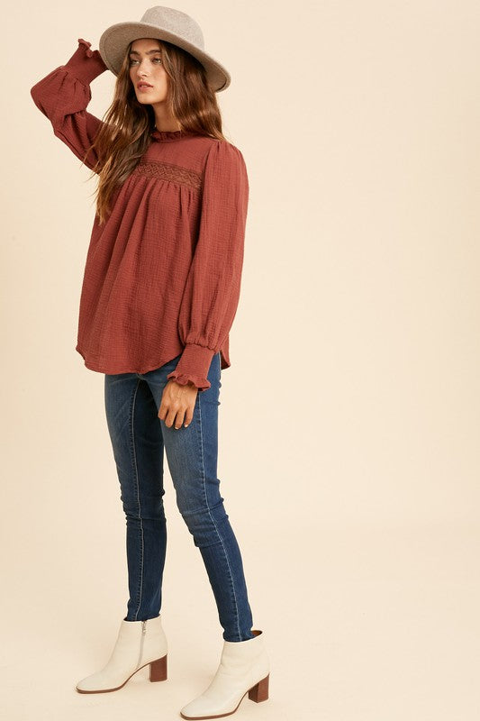Addilyn Ruffled Lace Top