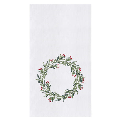 Merry Holly Tea Towel