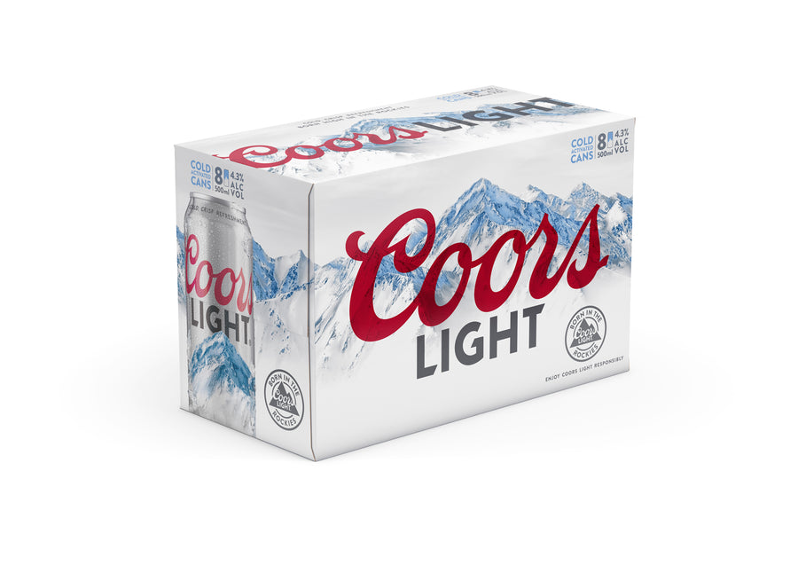 Coors Light 8 Pack Cans