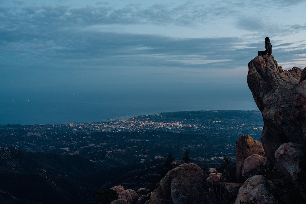Santa Barbara View at Dusk  // Blake Bronstad Photography