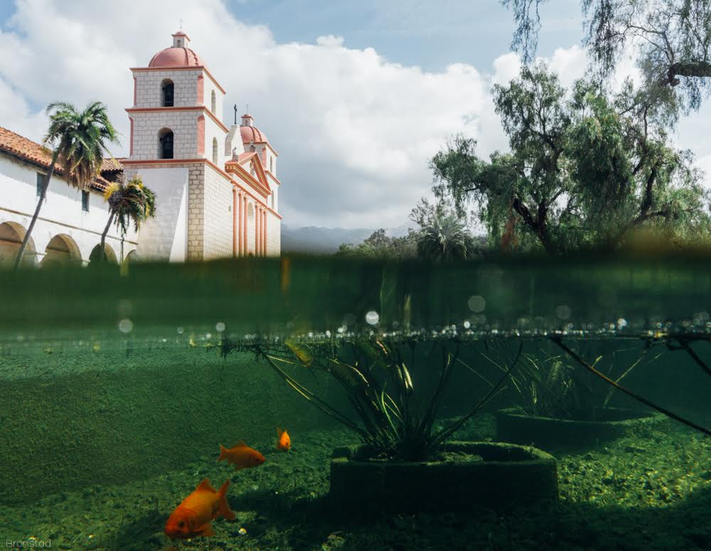 Santa Barbara Mission and Fountain // Blake Bronstad Photography