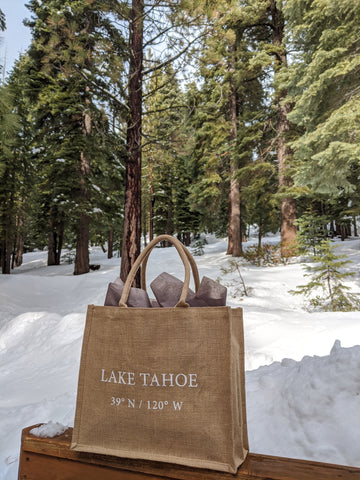 Bags in the snow