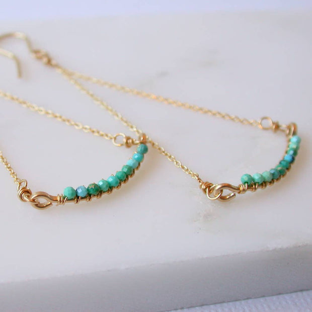 Turquoise Swing Earrings