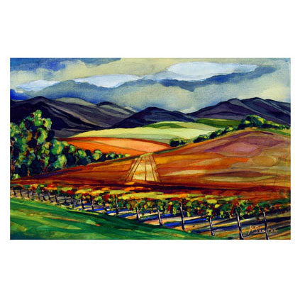 Autumn Vineyard Afternoon Print Karin Shelton - Karin Shelton, The Santa Barbara Company