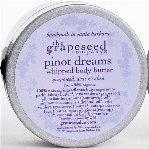 Pinot Dreams Whipped Body Butter Moisturizers and Lotion - The Grapeseed Company, The Santa Barbara Company