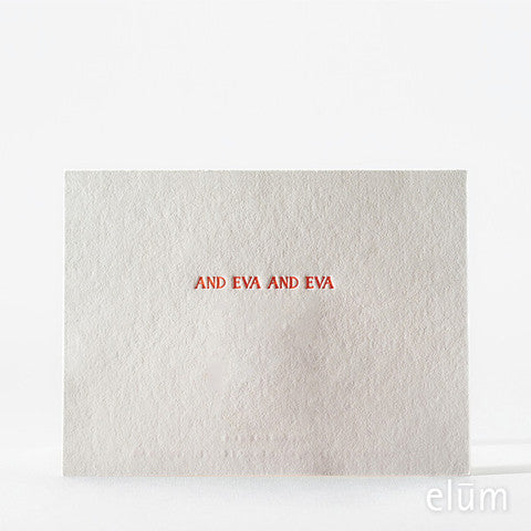 Fo' Eva Letterpress Card Single Note Cards - Elum, The Santa Barbara Company - 2