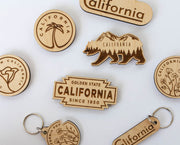 California Wood Magnet