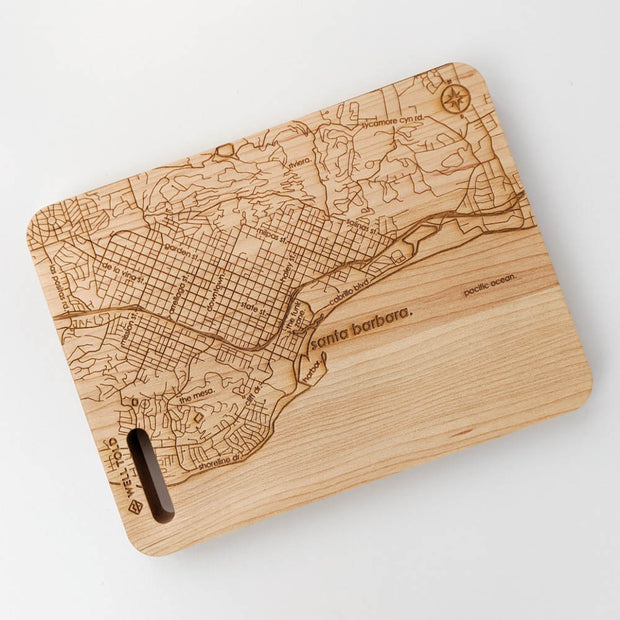 Map of Santa Barbara Cutting Board