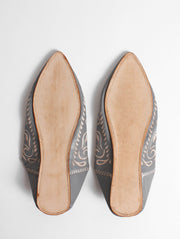Decorative Moroccan Leather Slippers