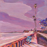Butterfly Beach Wall & Scooter Original Painting by Kate Joiner