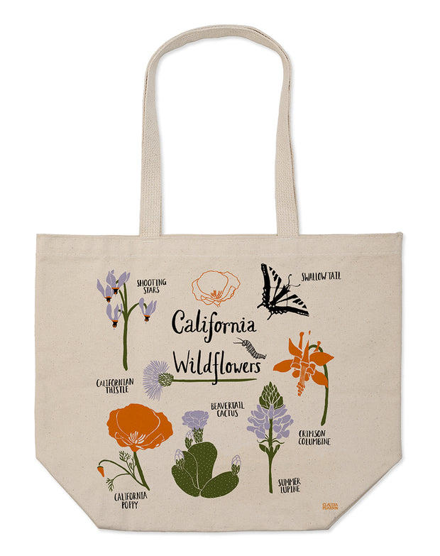 California Wildflower Market Tote