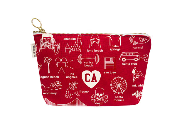 Red California Pouch