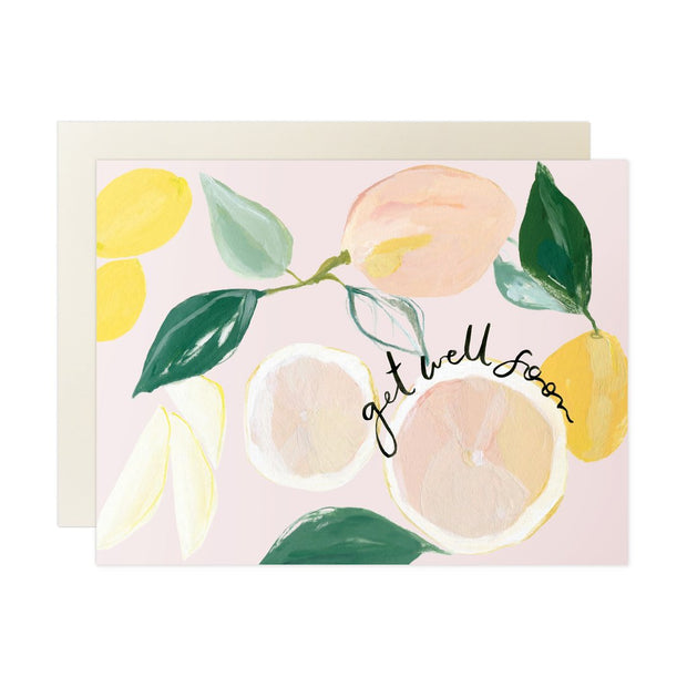 Citrus Get Well Soon Note Card