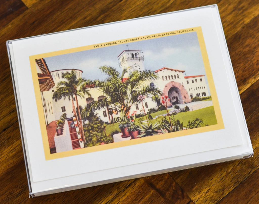 Courthouse Vintage Note Cards Santa Barbara Note Cards - Found Image, The Santa Barbara Company
