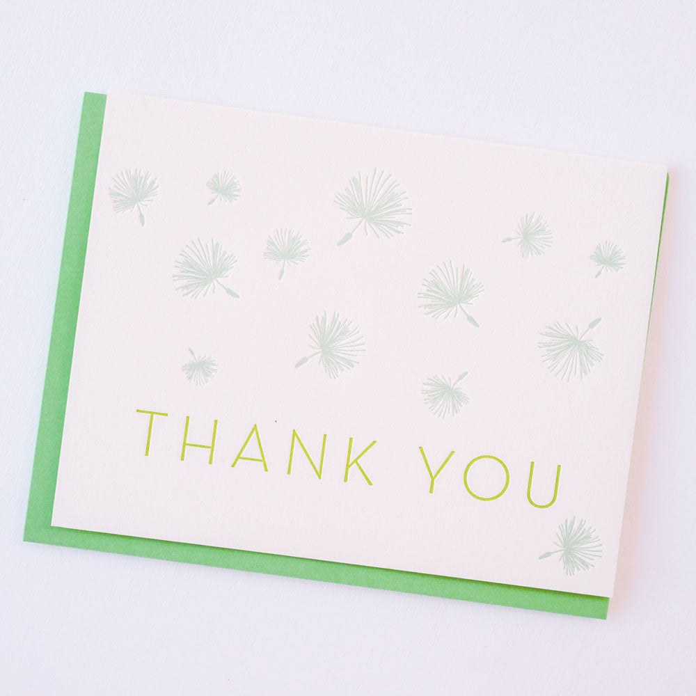 Thank You Dandelions Letterpress Card