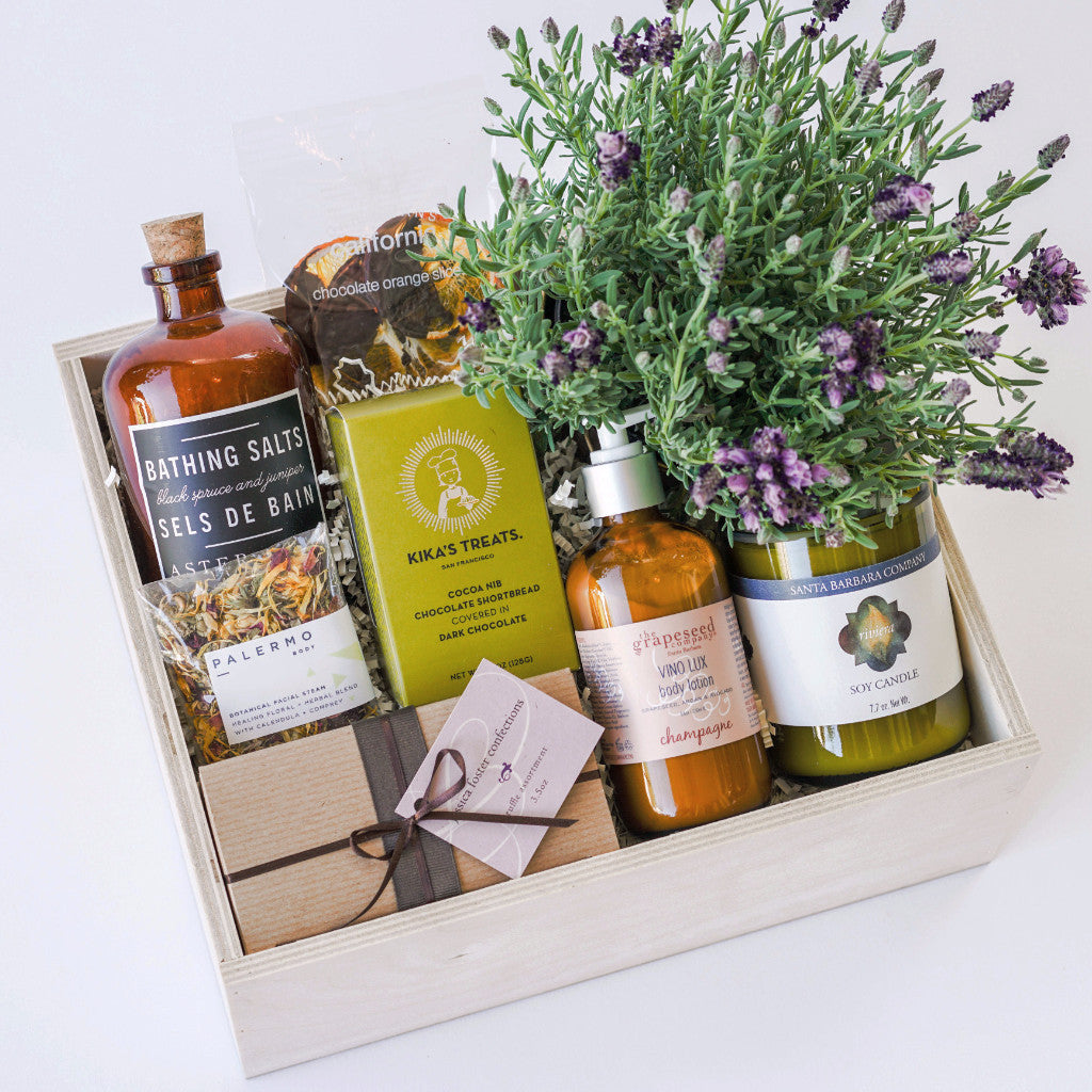 Staycation Gift Box with Lavender Plant
