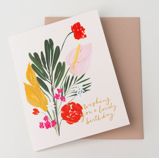 A Lovely Birthday Note Card