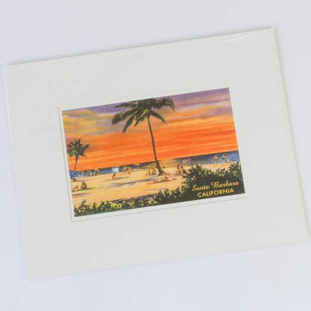 Golden Santa Barbara Beach Print