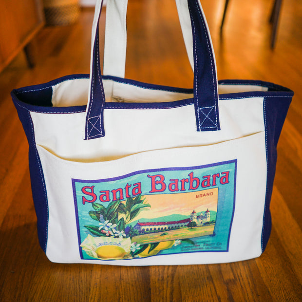 Santa Barbara Mission Citrus Tote Totes - California Citrus Company, The Santa Barbara Company - 1