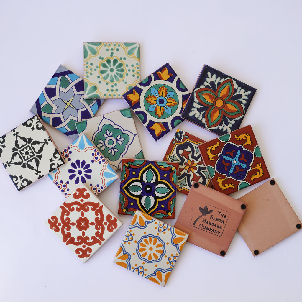 Assorted Ceramic Tile Coasters (Bulk)