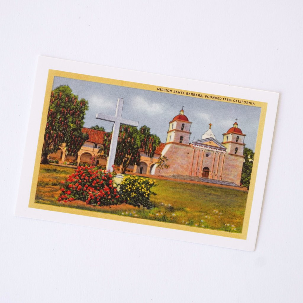 Fiesta at Mission Santa Barbara Postcard