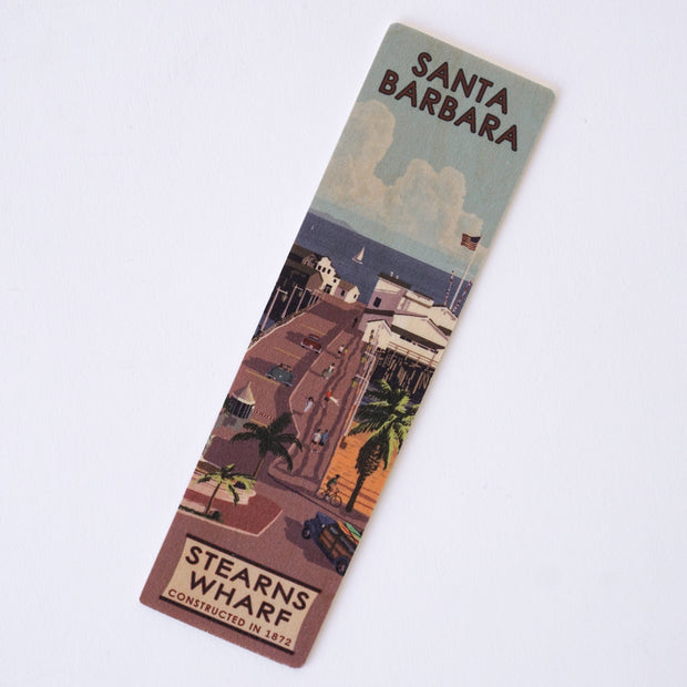 Stearns Wharf Santa Barbara Wood Bookmark