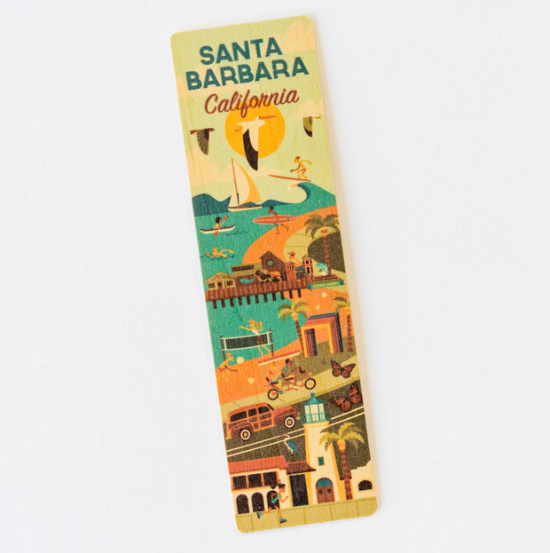 Santa Barbara Scene Wood Bookmark