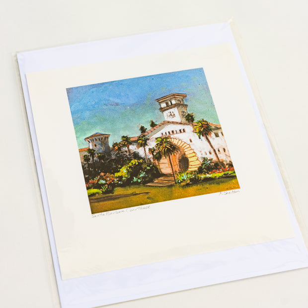 Santa Barbara Courthouse Print by Karin Shelton