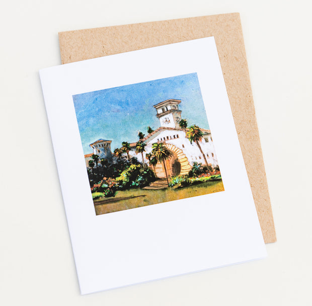 Courthouse Painting Note Card