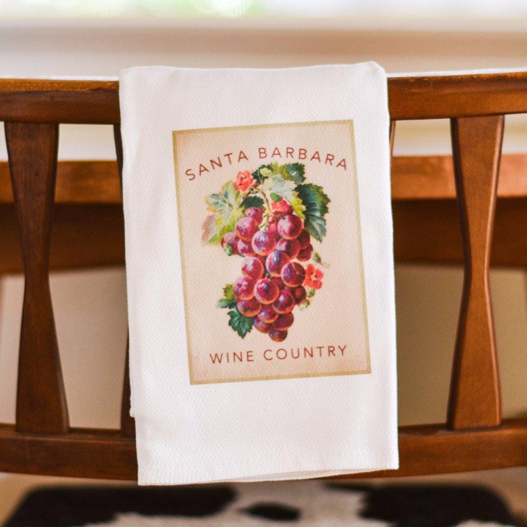 Santa Barbara Wine Country Grapes Towel Kitchen Towels - Pacific Swell Designs, The Santa Barbara Company - 1