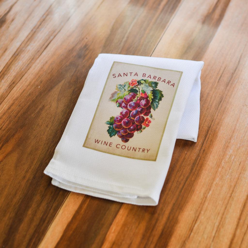 Santa Barbara Wine Country Grapes Towel Kitchen Towels - Pacific Swell Designs, The Santa Barbara Company - 2