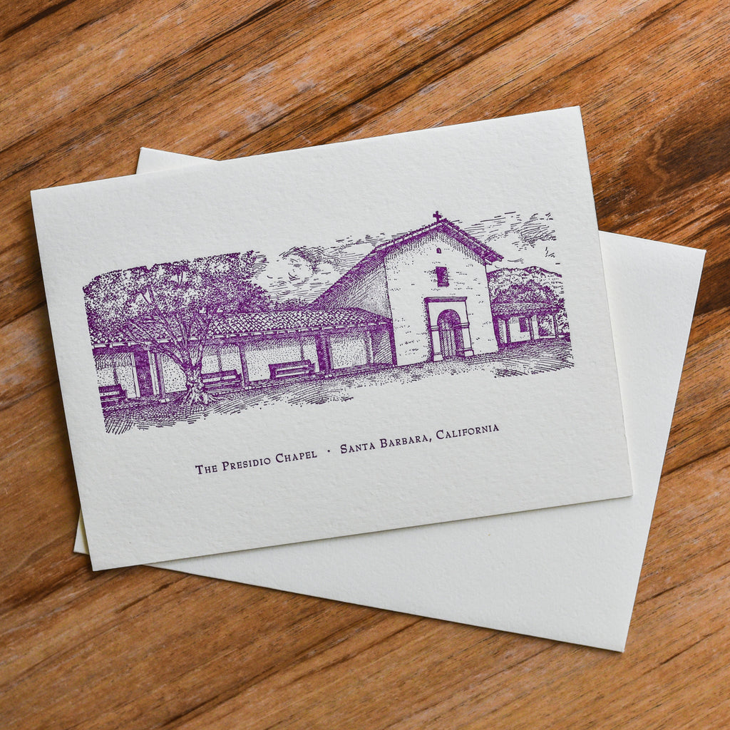 Presidio Chapel Note Card Santa Barbara Note Cards - Lumino Press, The Santa Barbara Company