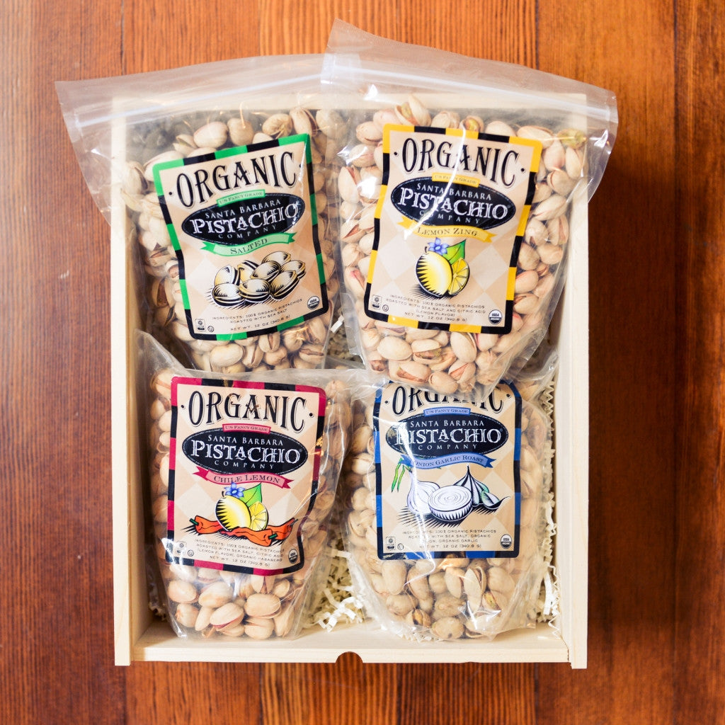 Organic Pistachio Gift Crate Snacks and Candies - Santa Barbara Pistachios., The Santa Barbara Company - 1