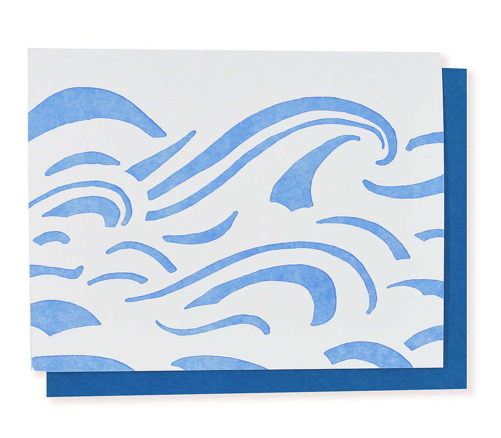 Blue Waves Greeting Card
