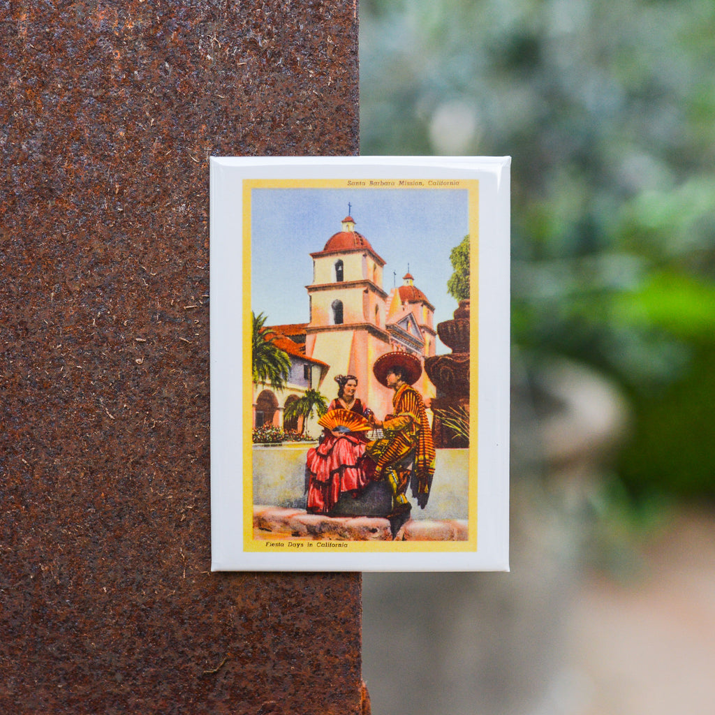 Fiesta at the Old Mission Magnet Magnets - Found Image, The Santa Barbara Company