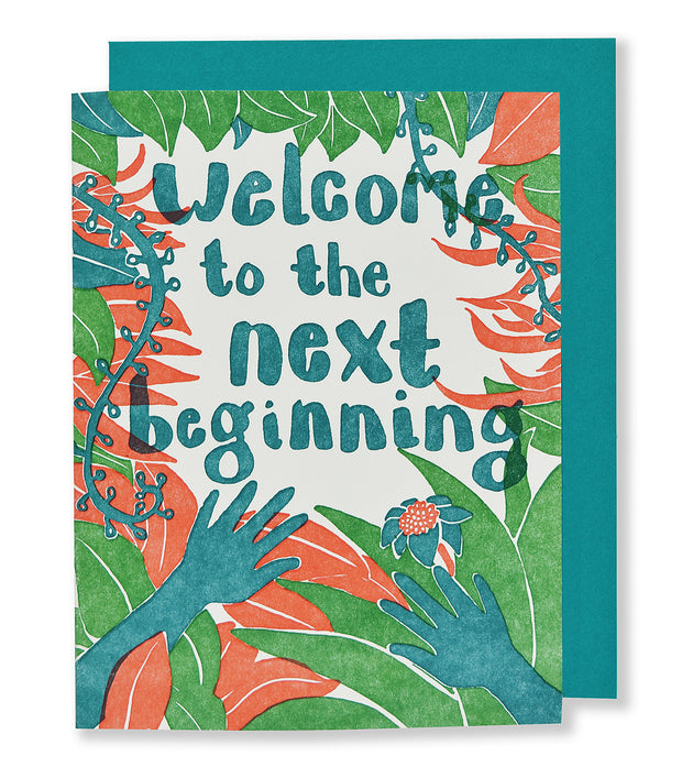 Welcome to the Next Beginning Letterpress Card