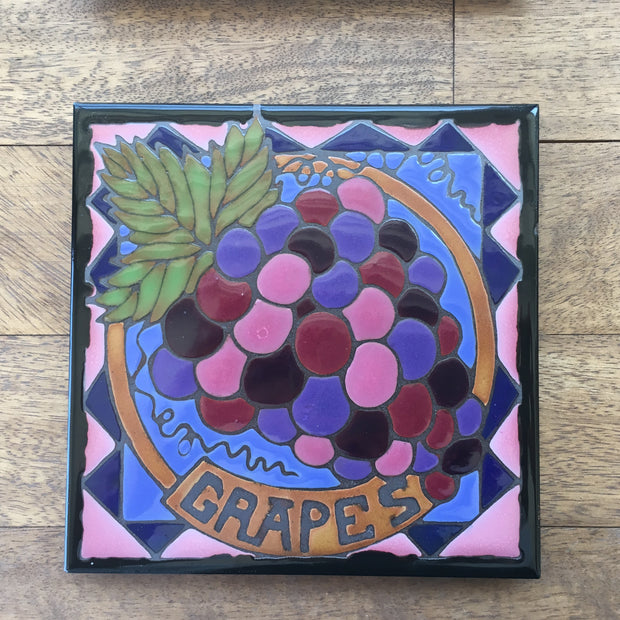 Grapes of the Wine Country Art Trivet