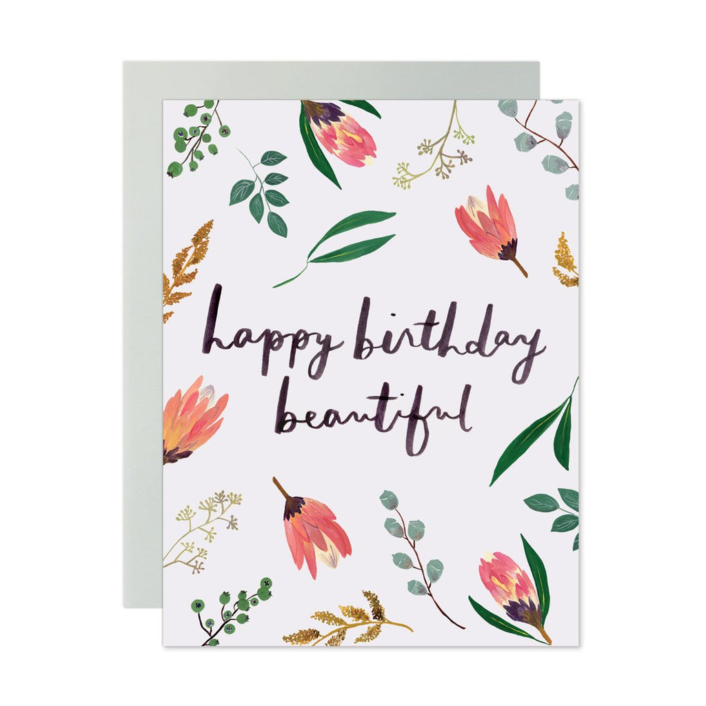Happy Birthday Beautiful Note Card